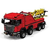 WYY Technic Scania 8X8 Extremo Grúa Arocs Modelo Building Blocks Kit, 6X6 Todo Terain Grúa De Ladrillos, Ladrillos De Construcción (Moc 2744 + PCS),No Motor