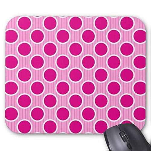 Accesorios de ordenador anti-fricción pulsera fucsia lunares en rayas rosa alfombrilla de ratón 18X22