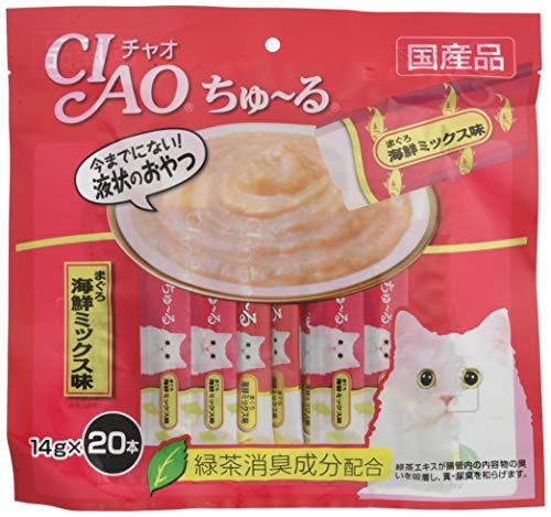 チャオ (CIAO) ちゅ~る まぐろ 海鮮ミックス味 14g 20本