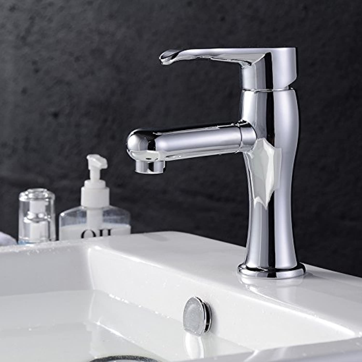 LHbox Basin Mixer Tap Bathroom Sink Faucet Basin faucet, plus high-basin faucet, stainless steel faucet, Spanner type water taps, the high water faucet