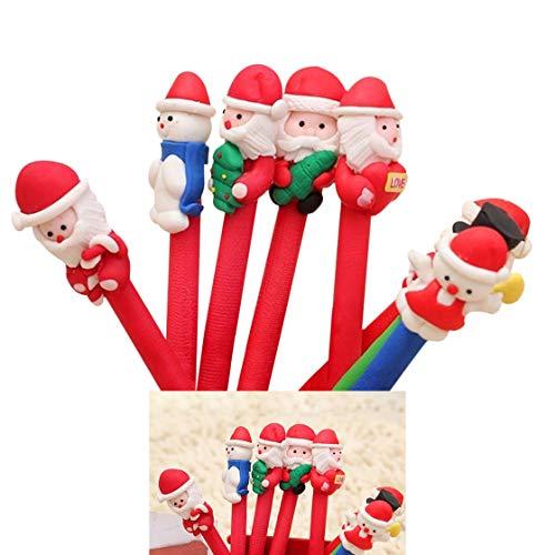 WARMWORD Lindo bolígrafos Rollerball de Forma de Alce de Navidad Suministros Escolares bolígrafos de Escritura para Regalo de cumpleaños Papelería Escolar de Oficina