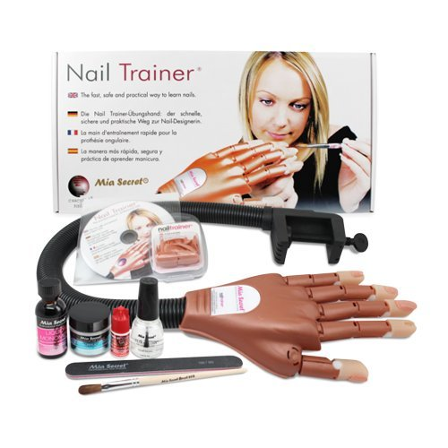 Mia Secret Professional Mechanical Hand Trainer W Acrylic Nail kit For Beginners or Student - Discontinued last pieces