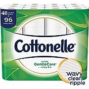 Cottonelle Ultra GentleCare Toilet Paper, Aloe & Vitamin E, 48 Double Rolls