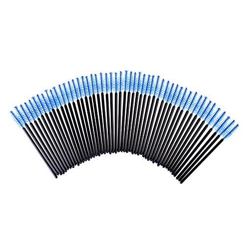 Brosse à cils, 100PCS Pinceaux à Cils Jetables à Mascara Pinceaux d'Huile de Ricin Outil de Maquillage de Yeux (Bleu)