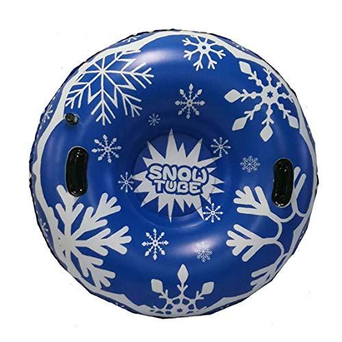 47,' Aufblasbarer Schneerohr für Schlitteln für Kinder und Erwachsene, Heavy Duty Schneereifen Snowboard mit Griffen, Anti-Kratz, Einfrieren beständig, ideal für den Winter Spaß im Freien
