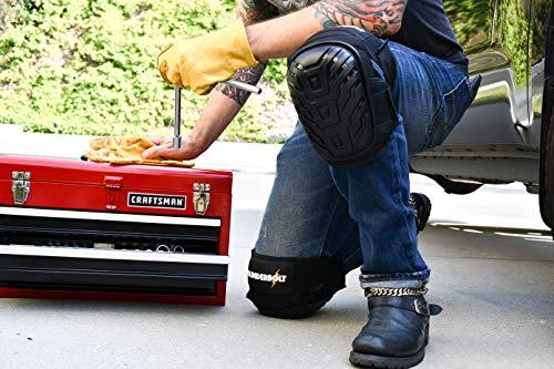Thunderbolt Genouillères professionnelles de coussin de gel le plus confortable pour le travail, Sol, construction, jardinage et tactique