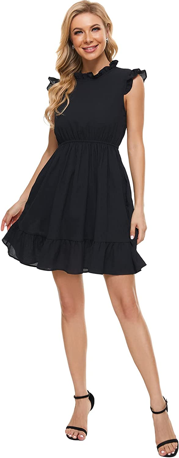 HONECA Mini Dresses with Sleeveless Cocktail Dress for Women Party