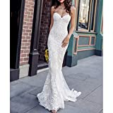 SWEETQT Bridal dress Sweetheart Vintage Mermaid Wedding Dress with Unique Lace Appliques Bridal Dress Elegant Wedding Gowns Princess dress