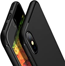 Compatible with iPhone X Case, iPhone Xs 5.8 inch Case, Ultra Thin Protective Case Simple Stylish Slim Fit Soft TPU Matt Cover Non-Slip Grip Scratch Resistant Black
