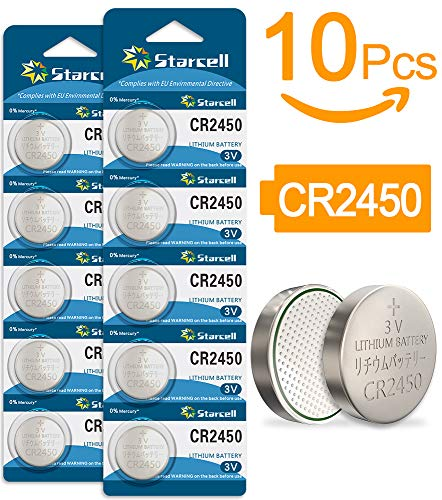 Starcell CR 2450 - Pack de 10 Pilas (Litio, 3V, 570 mAh)