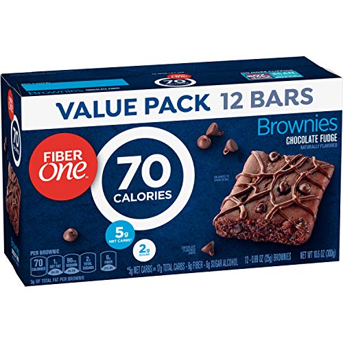 Fiber One Brownies, Chocolate Fudge Brownie, 70 Calorie Bar, 12 ct, 10.6 oz