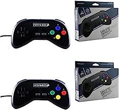 Retro-Bit - 2 Packs - SNES - Controller - Wired - Super Retro RDP - Single Pack - Black