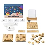 SSol&Sam Math Number Counting Toys – STEM Learning Arithmetic Game with Wooden Numbers, Blocks and White Board – Math Learning Toy for Preschool Kids Ages 4+