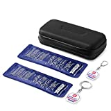 Insulin Travel Cooler Bag, with 2 Medical Alert Bag Tag + 2 Ice Packs (Updated Waterproof Version) Insulated Diabetic Organizer Medicine Case