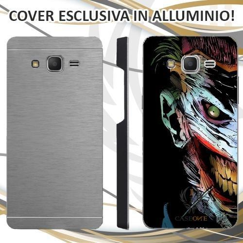Custodia Cover Case Joker Face per Samsung Galaxy Grand Prime in Alluminio