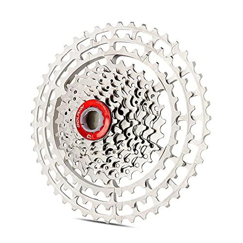 Índice de Velocidad 10/11 Índice de Velocidad 11-46T Cassette Freewheel - Pieza Libre de la Pieza de Bicicleta de Plata de MTB, Adecuada para la Rueda de Bicicleta XD/Cassette (Size : 11s 46T)