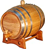 Barril artesanal de roble americano de 2 litros. Kit de añejamiento