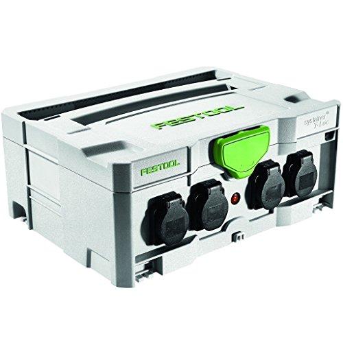 FESTOOL Systainer SYS-PowerHub IP44 mit 5 Steckdosen 396 x 296 x 157,5 mm, 1 Stück,200231