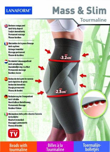 Lanaform Mass & Slim Anti Cellulite Hose Shorts aus Bambus-Viskose und Turmalin® Größe L 42/44 bekannt aus Gala