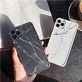 YABAISHI Patrón de mármol de Viento frío iPhone12mini Apple 11PRO MAX Soft TELÉFONO TELÉFONO 7 / 8PLUS Anti-Drop XR (Color : Black Background, Size : Iphone11)