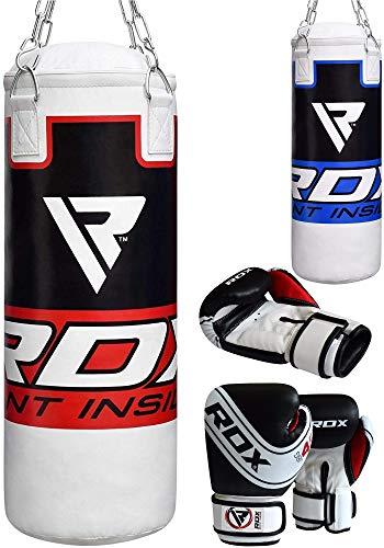 RDX MMA Kinder Boxsack Set Gefüllt Kickboxen Jugend Kampfkunst Muay Thai Boxen Mit Kette Trainingshandschuhe Kampfkunst Schwere Junior 2ft Boxsack
