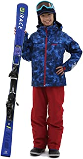 \動きやすさNo.1/【3年着られる!】スキーウェア キッズ/ストレッチ/動きやすい/軽量防寒/耐水圧 コスパ抜群!!ワンサイズ大きめ推奨(-20cmまでサイズ調整可能)お下がりにも可能 NNOUM (ノアム) スキーウェア キッズ 120~1...