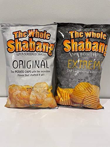 The Whole Shabang Potato Chips Variety Pack - (1) 6 oz Original / (1) 6 oz Extreme