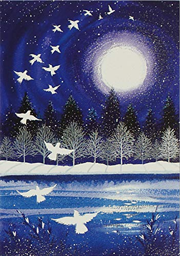 Moonlight Doves Small Boxed Holiday Cards (Christmas Cards, Greeting Cards)