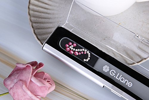 Glass Nail File With Austria Crystals – G.Liane Professional Crystal Fingernail Files In Aluminum Case Perfect Manicure…