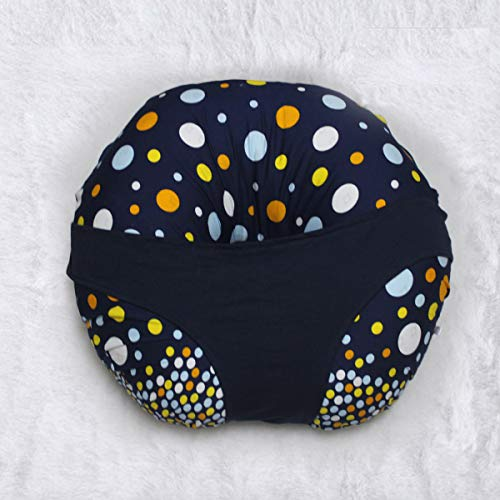 Kradyl Kroft Down 5 in 1 Baby Feeding Pillow with Detachable Cover (Magic Polka)