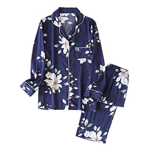 Primavera/Verano Nuevos Pantalones De Viscosa De Manga Larga Pijamas De Mujer Traje De Pijamas Largos De Estilo Simple Servicio A Domicilio De Mujeres