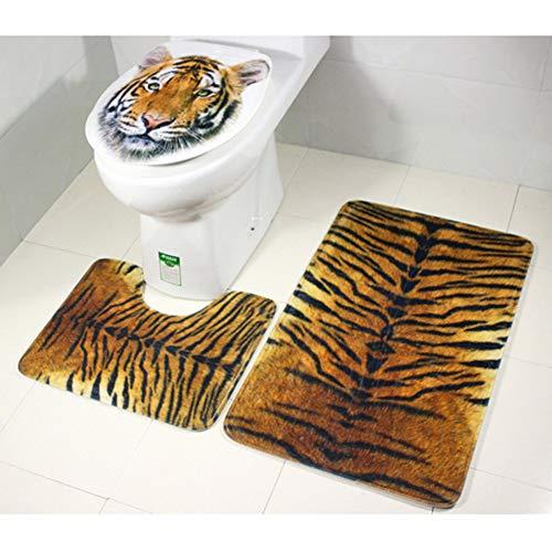 GZxiangBath mat Alfombra de baño Alfombras de baño Alfombra 3 Piezas