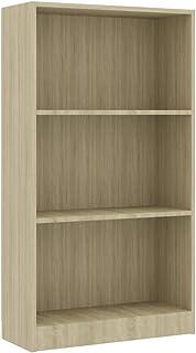 vidaXL Legno Massello di Pino Messicano Libreria a 4 Livelli Corona Range Rustica Robusta Scaffali Libri Espositore Grigio 81x29x170 cm