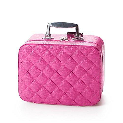 Make-Up-Organizer hochwert ige Aufbewahrungsboxen für Schminke Schubladenboxen mit kosmetischen Makeup Kosmetik Aufbewahrung Organizer ( Color : Red )