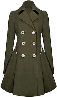 MINIKIMI da Donna Vintage Steampunk Lungo Cappotto Gotico Cappotto Le Signore Retro Giacca Vintage Manica Lunga Giacca Vittoriano Giacce Costume,Autunno Invernali Irregolare Top