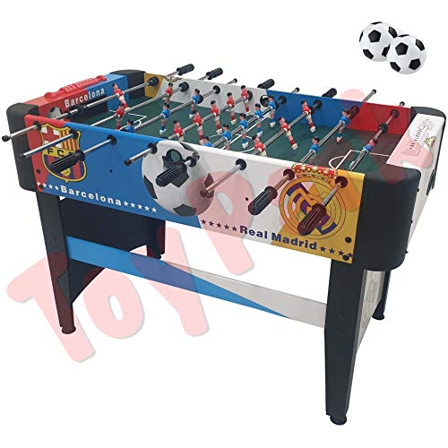 Toy Park Premium Foosball/ Soccer/ Football Table Game (120x61.2x78 cm) - Heavy Duty Foosball Table El Classico- Multi Color