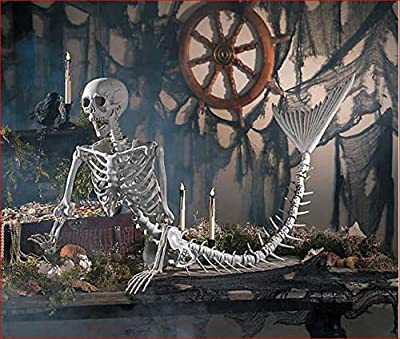 Life Size Mermaid Skeleton Halloween Prop
