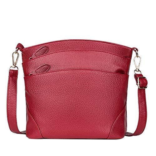 LILIHOT Frauen Einfache Beiläufige Kuriertasche Multi Reißverschluss Spassvogel Umhängetasche Einzigen Schulter Kleinen Quadratischen Tasche Schloss Messenger Bag Mode Damen Handtasche