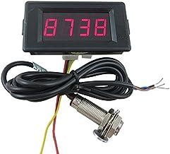 DIGITEN DC 12V 4 Digital Red LED Counter Meter up Down+Hall Proximity Switch Sensor NPN