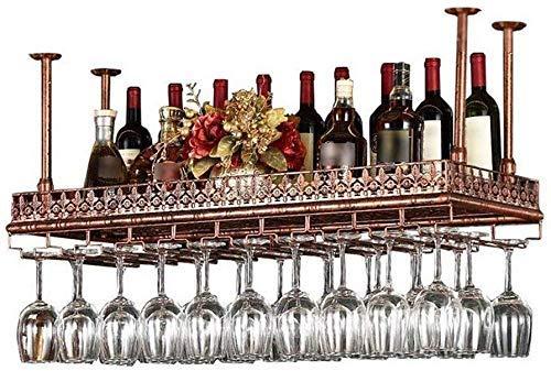 Estante del vino, de la novedad decoración de la pared del estante, estante del vino estante de vidrio Bar Restaurante montado en la pared que cuelga titular copa de vino estante de la pared de almace