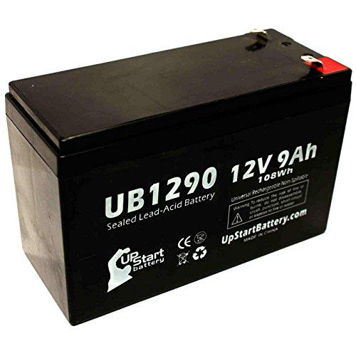 Ersatzakku für APC SMART-UPS 3000 SUA3000RMI2U (universal, versiegelte Blei-Säure-Batterie, 12 V, 9 Ah, 9000 mAh, F1 Terminal, AGM, SLA), inkl. zwei F1 auf F2 Terminal-Adaptern