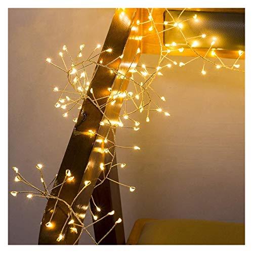 VGY Luces de Cadena LED de Alambre de Cobre de 2M 5M Firecracker Fairy Garland Light para la Ventana de la Ventana de la Navidad Fiesta de Bodas Operada (Emitting Color : White, Wattage : 2m 100leds)