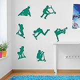 Kids Stunt Scooters, jumps, Tricks, Wall Decorations Window Stickers Wall Decor Wall Stickers Wall Art Wall Decals Stickers Wall Decal Decals Mural DÃÂcor Diy Deco Removable Wall Decals...