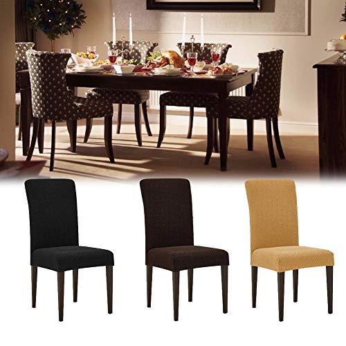 Rainnao Elastische stoelhoezen van maïskorrel, eenvoudige bekleding, universele stoelbescherming voor hotel en restaurant B