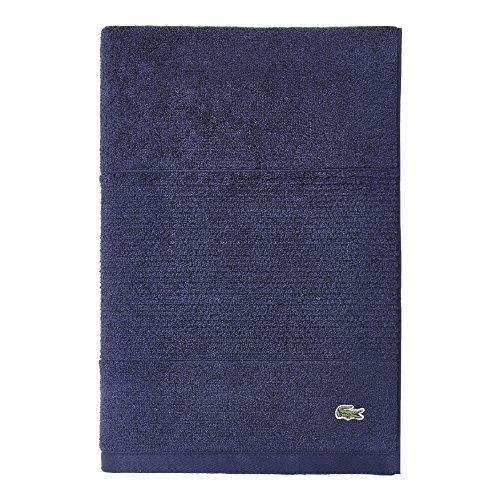 "Lacoste Legend Towel, 100% Supima Cotton Loops, 650 GSM, 35""x70"" Bath Sheet, Navy"