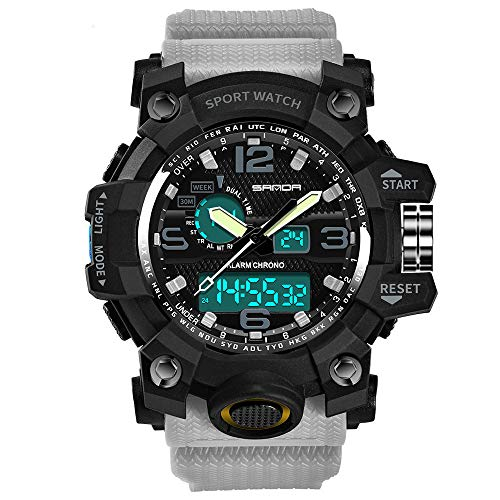 Men Watches on Sale Clearance ! Hessimy Men's Digital Sports Watch LED Screen Large Face Military Watches and Waterproof Casual Luminous Electronics Watch Back Light Outdoor Simple Army Wrist Watch