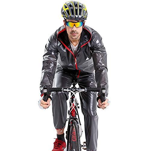 GITVIENAR Neu Split Regenmantel, Faltbar Herren Regen Hose und Mantel Set Wasserdichte, Winddichte Regenjacke Regenbekleidung, Atmungsaktiv Separate Regenponcho Regenschutz für Fahrrad Wandern Camping