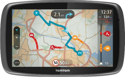 TomTom GO 600 Europe Traffic Navigationssystem (15 cm, (6 Zoll) kapazitives Touch Display - Bedienung per Fingergesten, Lifetime TomTom Traffic & Maps)
