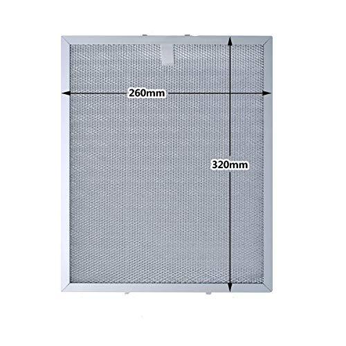 Filtro de Grasa de Metal Universal para Campana Extractora/Ventilador Extractor,Plateado,320 x 260 mm por Poweka
