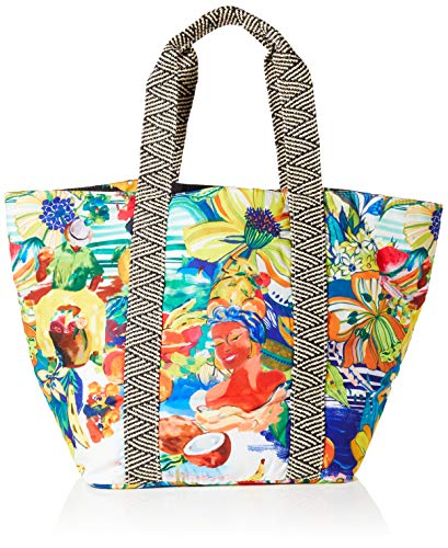 Desigual Fabric Shopping Bag, Bolsa de la Compra para Mujer, Material de Acabados, U